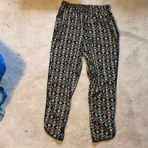 Geometric/tribal print harem pants